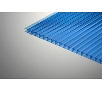 Сотовый поликарбонат КОЛИБРИ 6Х2100Х12000ММ Синий 30%