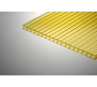 Сотовый поликарбонат КОЛИБРИ 6Х2100Х12000ММ Жёлтый 70%